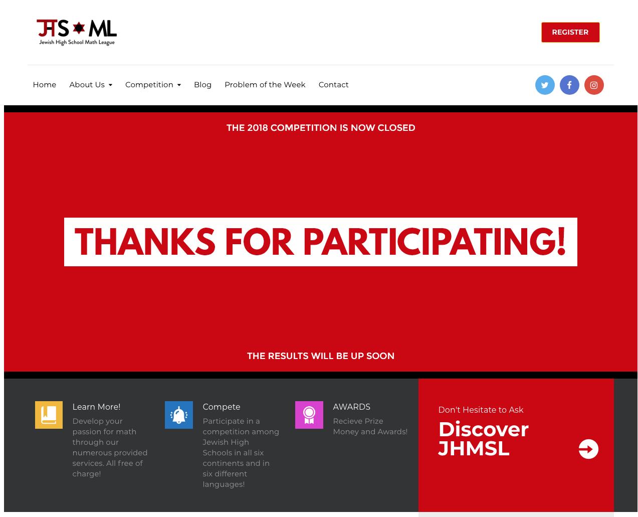 JHS Math League — Case Study